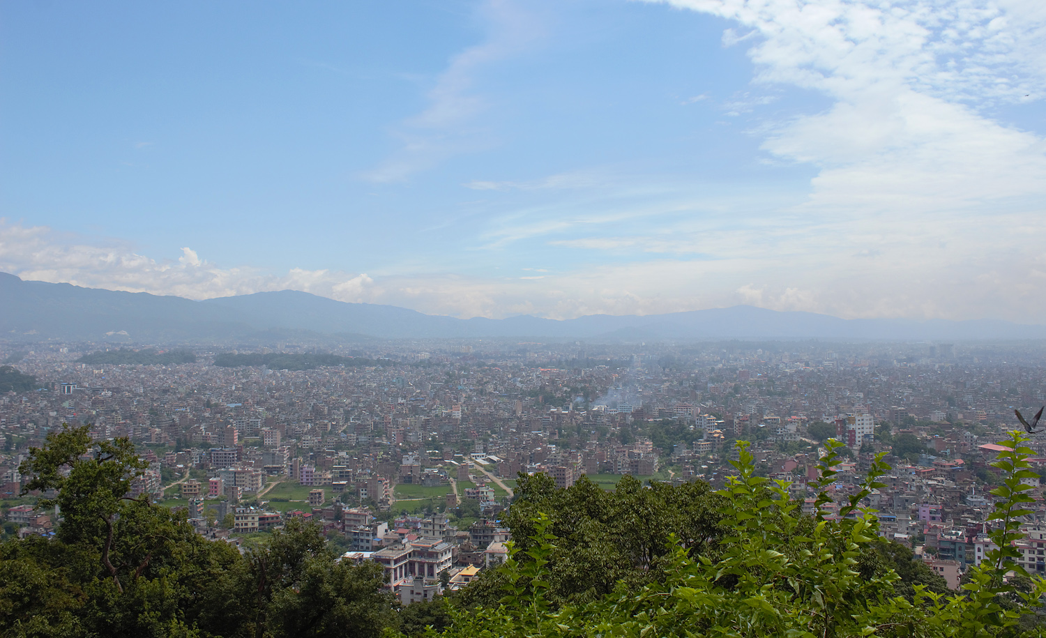 A view of the Kathmandu valley in August 2013.