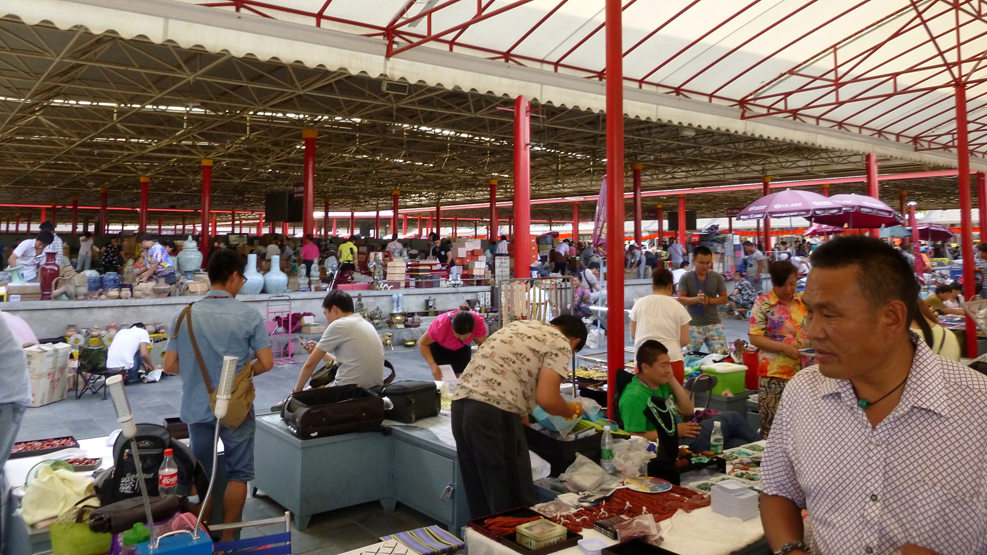 How to prepare your mind for travel? A crowded market in Beijing.