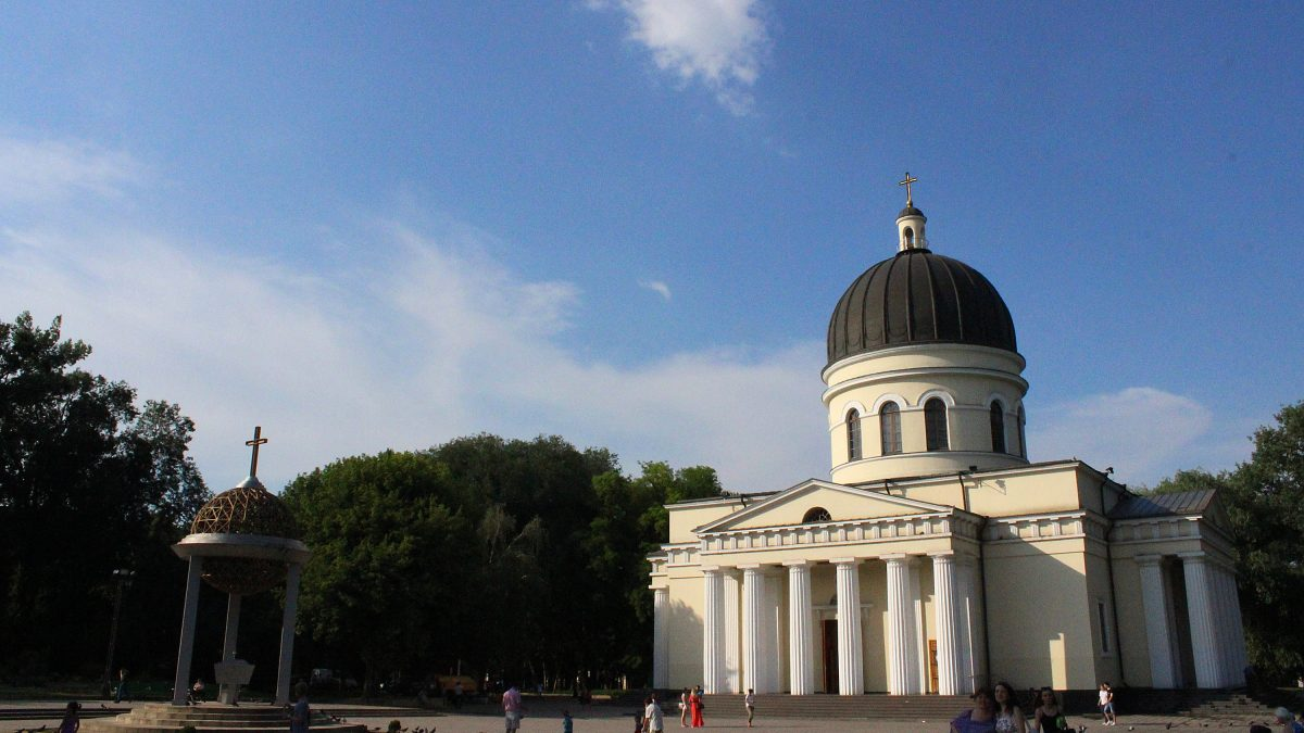 The Nativity Cathedral of Chișinău, the main cathedral of the Moldovan Orthodox Church in daytime.