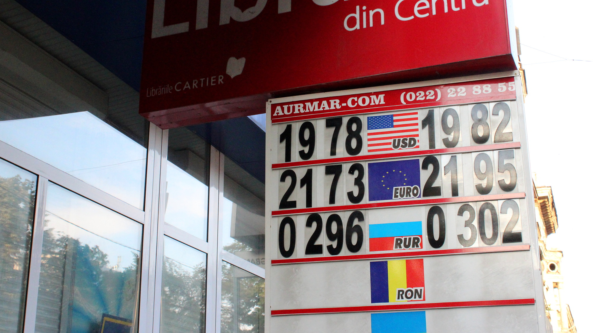 Currency exchange service in Moldova with current exchange rates.