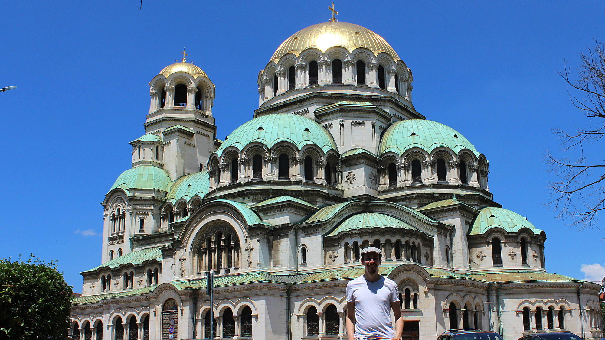 Alexander Nevsky Cahedral in Sofia during the day.