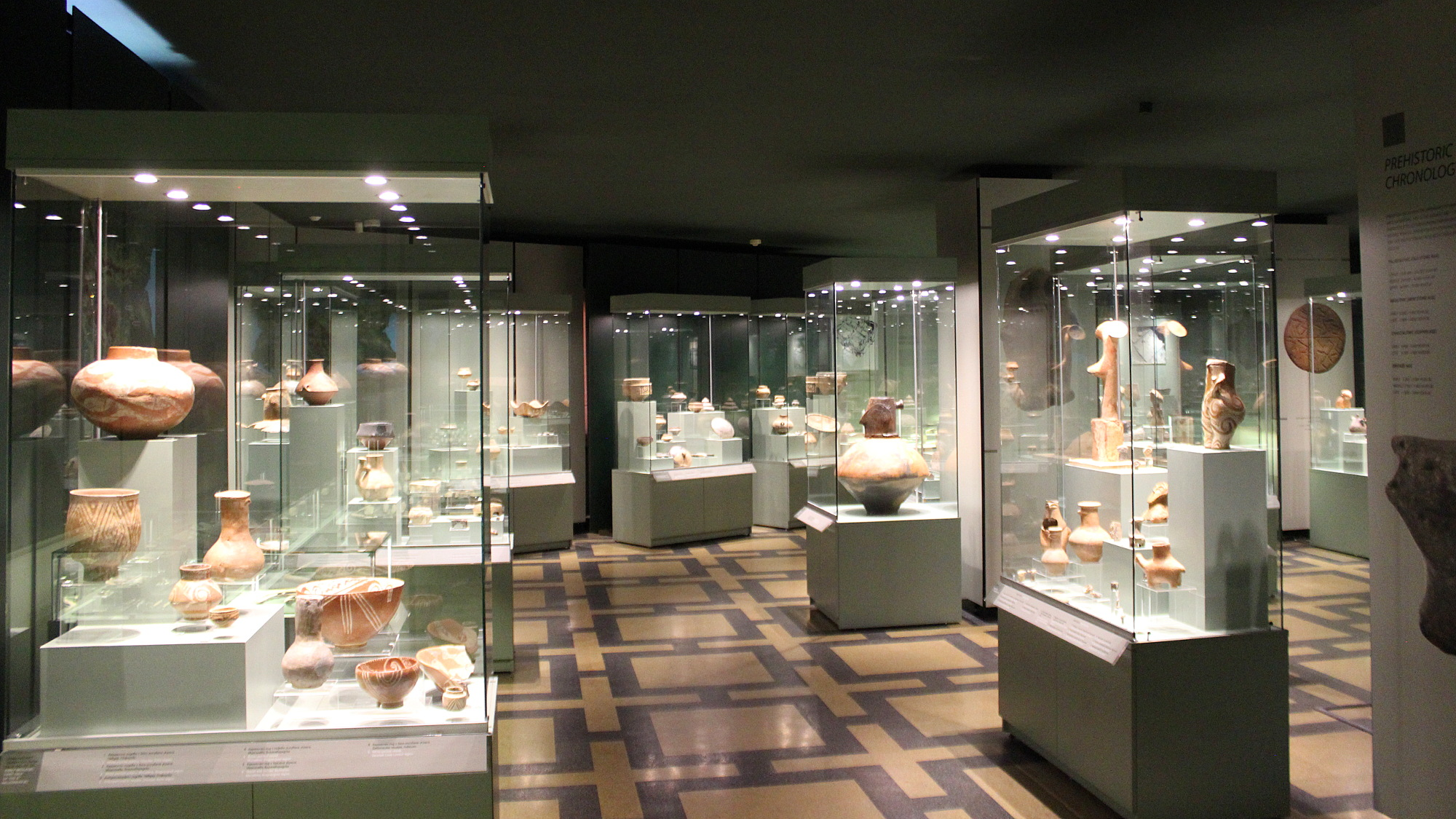 Prehistorical room of the National Archaeological Museum of Bulgaria.