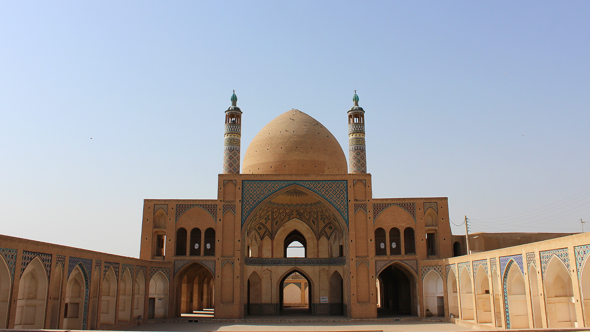 Agha Bozorg Mosque yard in Kashan, Iran.
