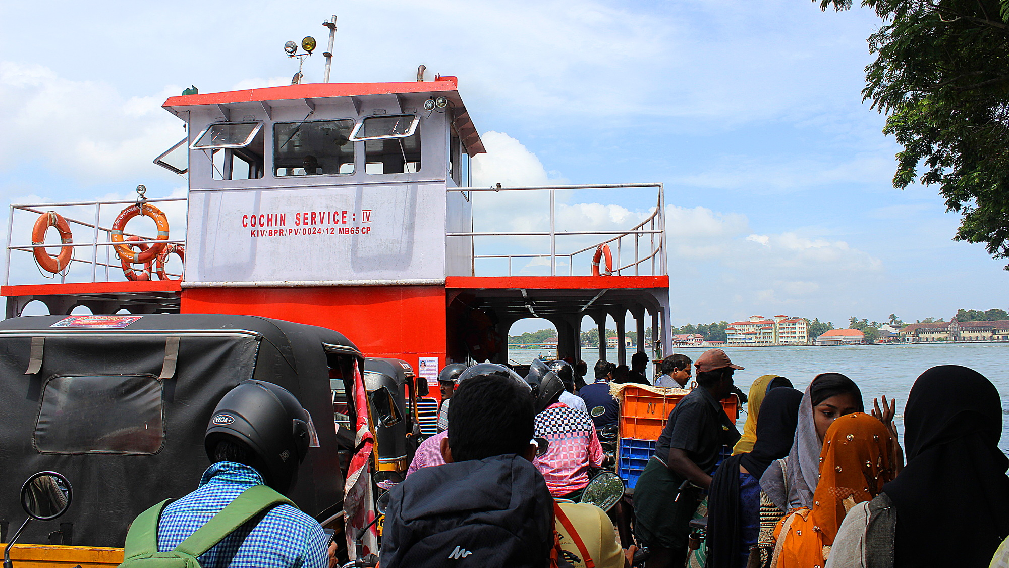 Cochin Service ferry to Fort Kochi, the touristy island of Kochi.