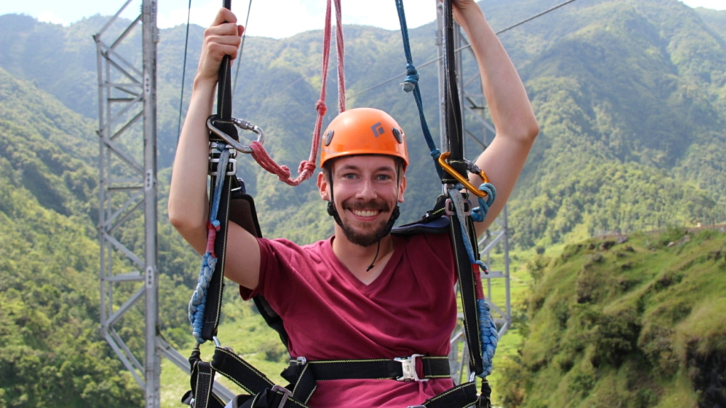 Feeling happy and carefree after the ZipFlyer.