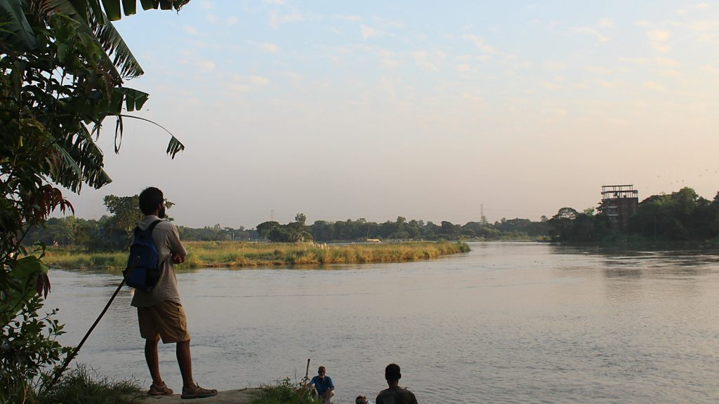 Solo travel in Bangladesh. A CouchSurfer visiting Bangladesh by the river Dhaleshwari.