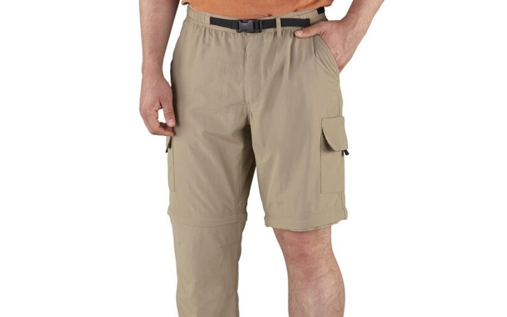 A photo of zip-off cargo pants.