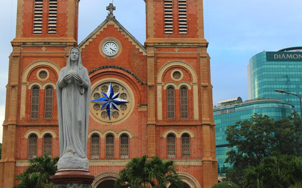Itinenary for one week in Ho Chi Minh City. The Notre Dame Church of Ho Chi Minh City (Saigon), Vietnam.