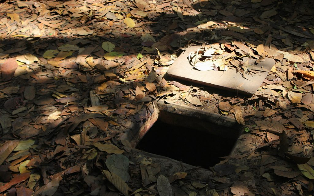 An entrance to the Cu Chi tunnels.