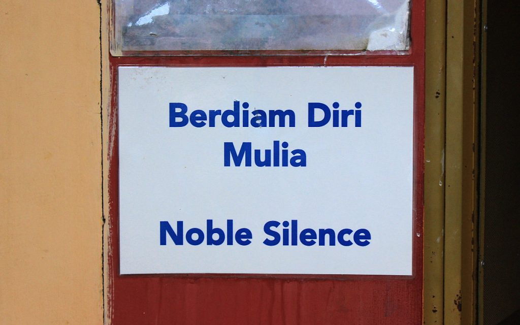 Noble silence lasts until the tenth day of the course.