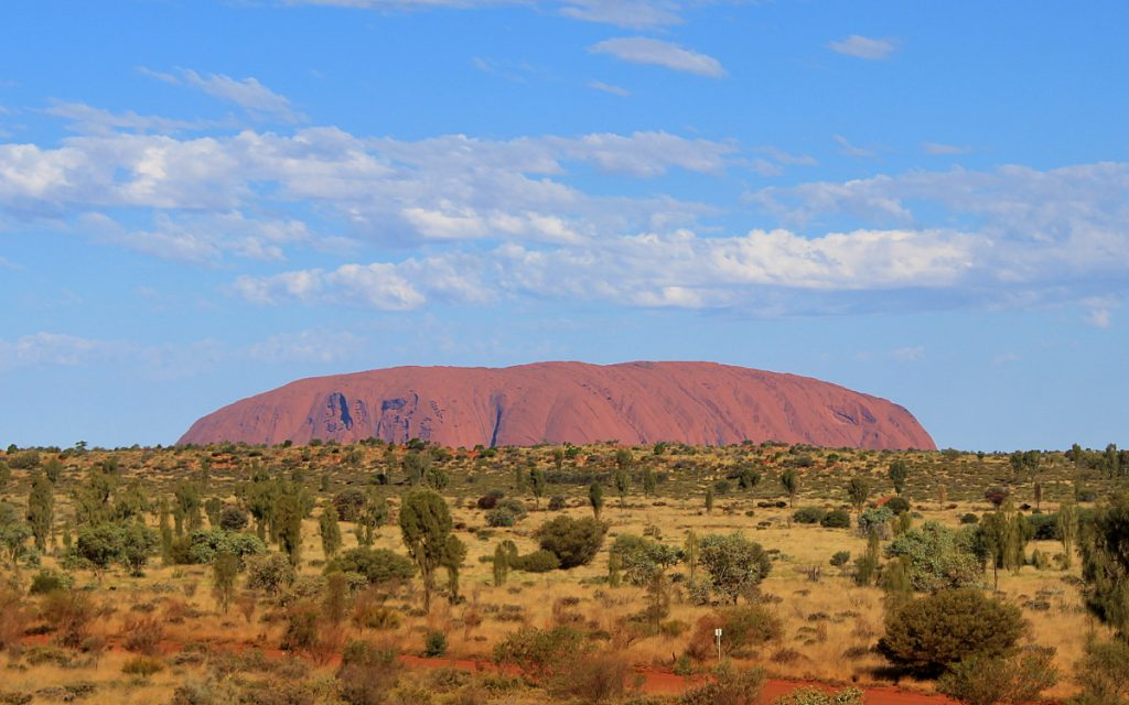 Uluru from Yulara viewpoint.