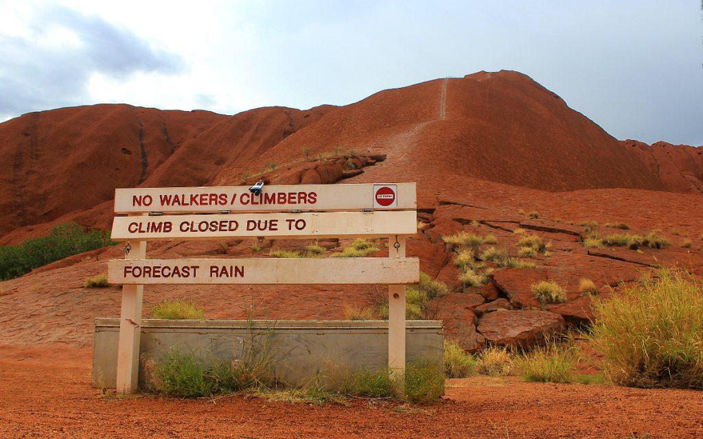 Climbing forbidden Uluru