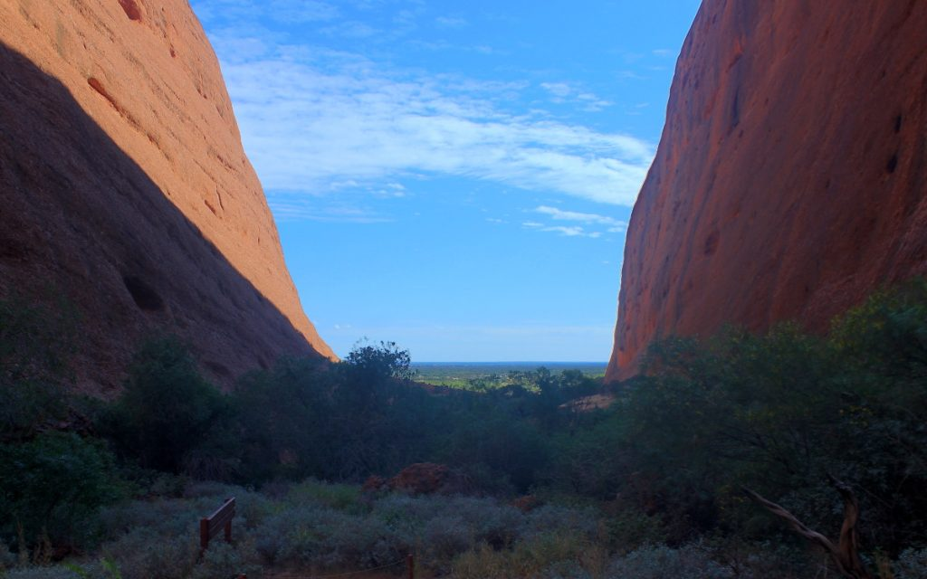 View down from Valpa Gorge, Kata Tjuta