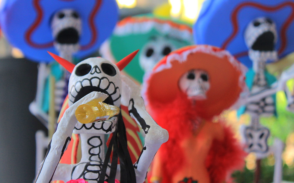 Dia de Los Muertos skeletons in Coyacán, Mexico City 2017.