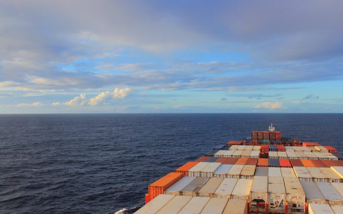 How long does it take a cargo ship to cross the Atlantic?