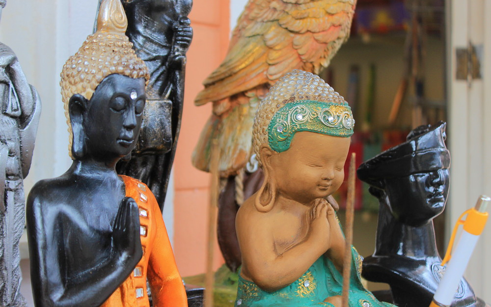 Buddha Statues at Little Finland souvenir shops.