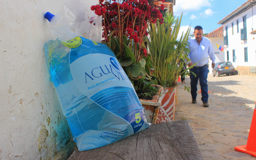 Bogota water plastic bag