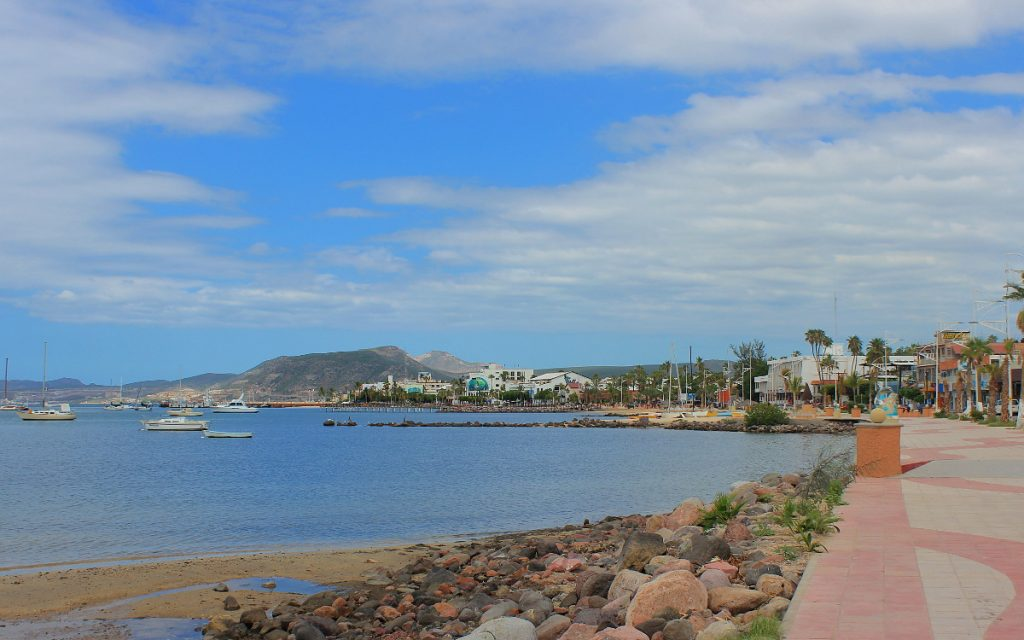 La Paz Malecón, Baja California Sur. Traveling in Mexico with public transport.