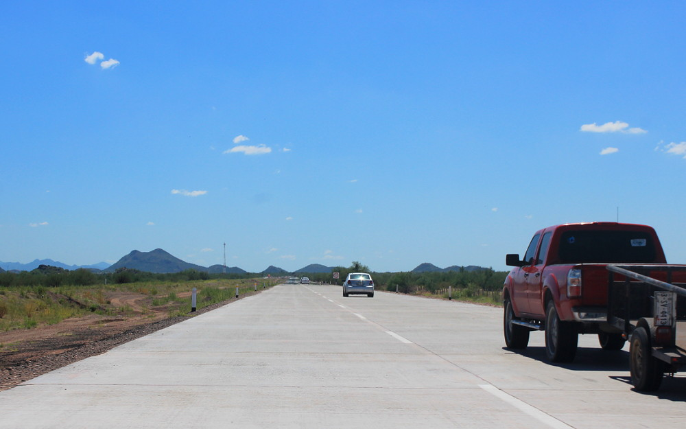 Is Mexico safe to travel? The road from Hermosillo to Guaymas in Mexico.