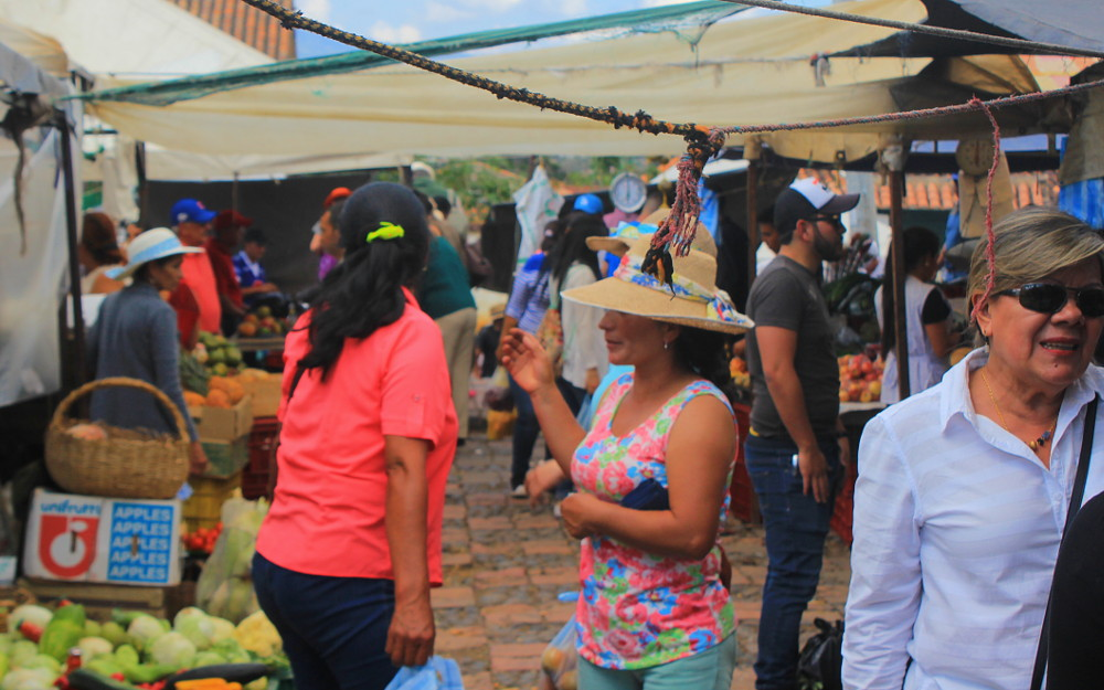 The Saturday market of Villa de Leyva, Colombia.