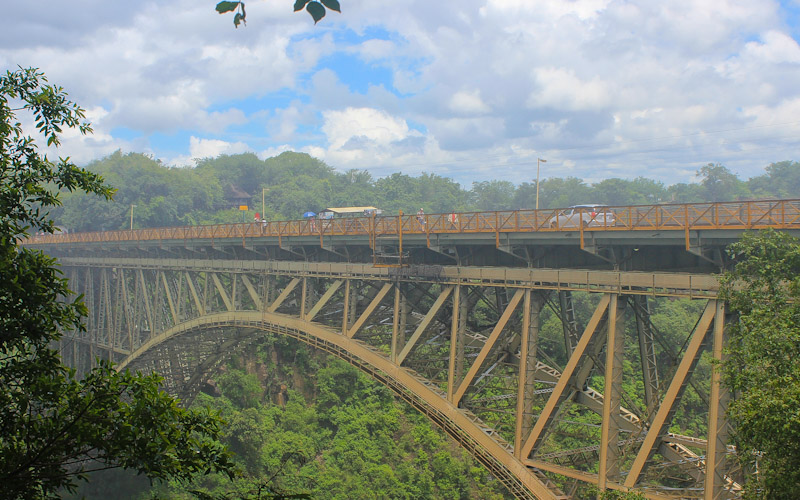 Victoria falls bridge from Zimbabwean side