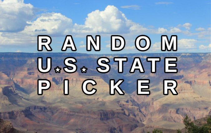 Random US State Generator. Give Me a Random State in the United States.
