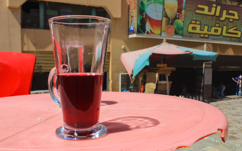 A herbal drink in a café in Cairo, Egypt. Local food in Cairo.