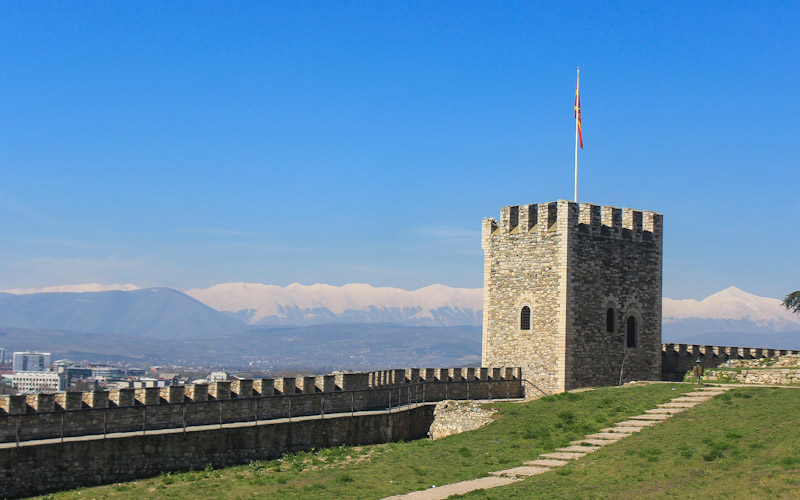 Skopje Fortress mountain view, Macedonia