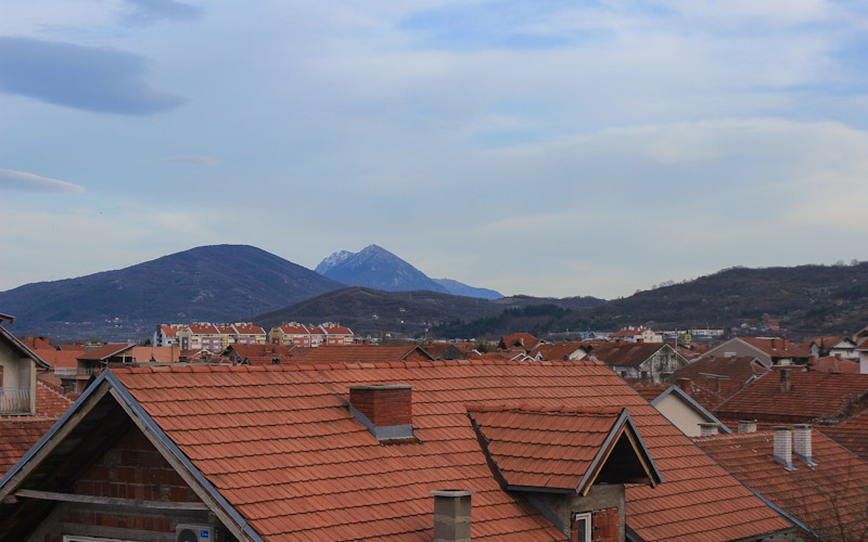 Rooftops of Niš, Serbia. RTW route summary