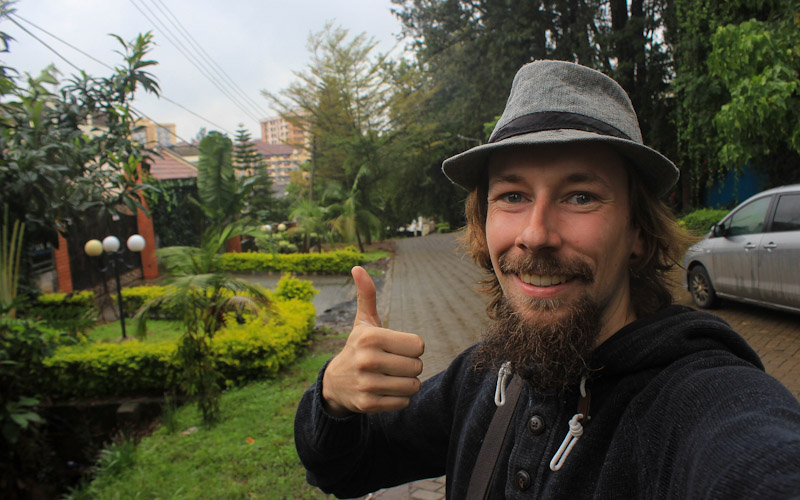 Thumbs up in Nairobi, Kenya