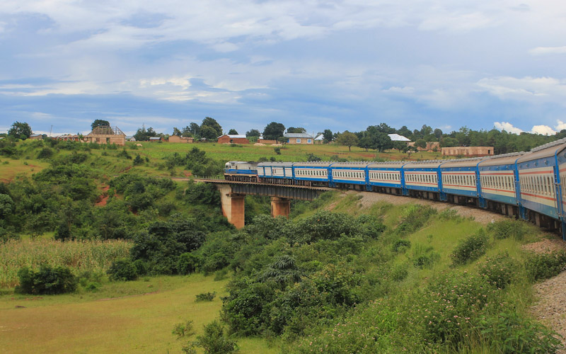 TAZARA train from Zambia to Tanzania