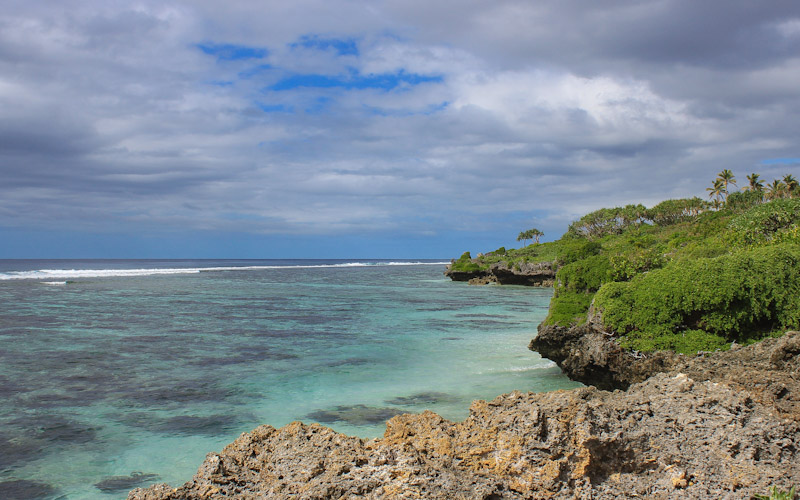 On the coast of Tongatapu island, Tonga