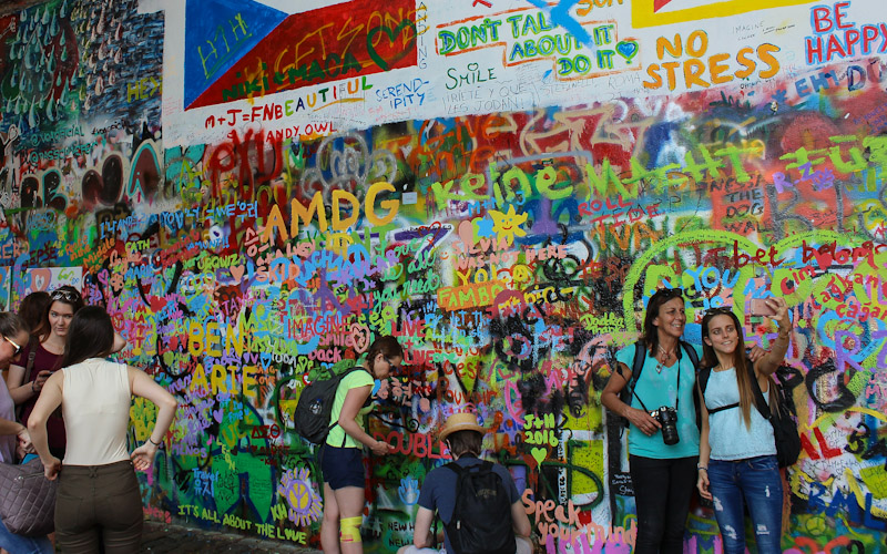 John Lennon Wall, Prague in 2016