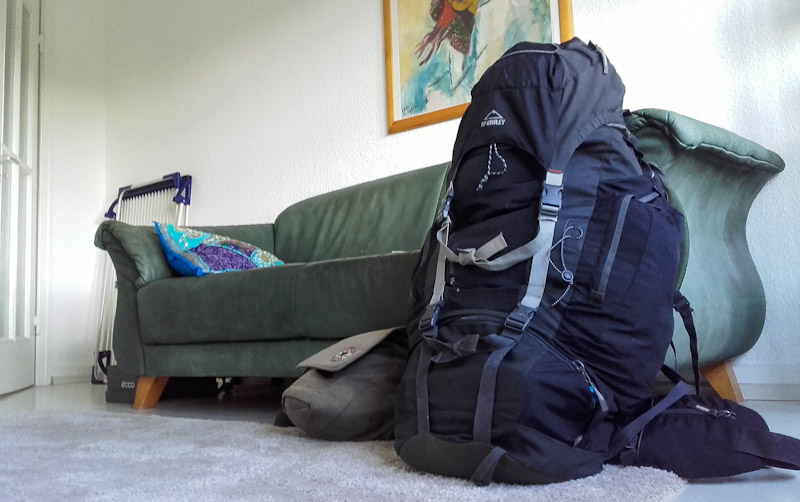Backpack and day bag for a trip around the world