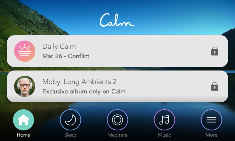 Moby Long Ambients 2 within Calm meditation app.